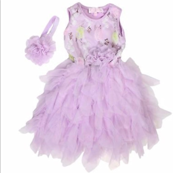 Pink Petti Twirl Dress Hot Pink Ruffles POPATU BRAND NEW With TAGS